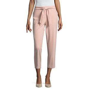 Worthington Tie Front Crop Tapered Pants Size 6